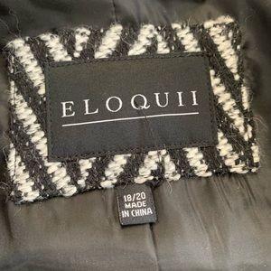 a891e364e7b Eloquii Jackets   Coats - Eloquii 18 20 Car Coat w  Fur Cuffs Herringbone